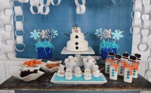παιδικό παρτυ χιονανθρωπος τούρτα