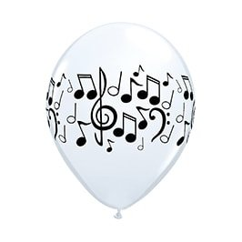 μπαλονια για παιδικά πάρτυ με νότες