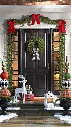 χριστουγεννιατικη γιρλαντα πορτας
